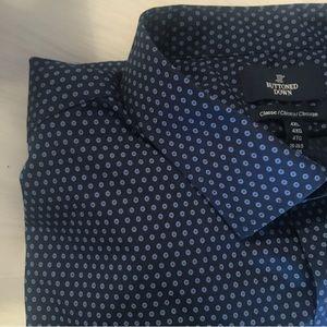 Buttoned Down Blue Dot Classic Fit Dress Shirt